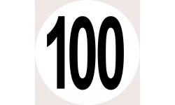 Disques de limitation de vitesse 100