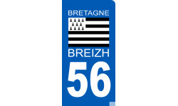 Autocollants : autocollant immatriculation motard 56 BRIEZH