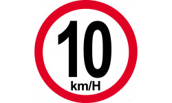 10 km/h bord rouge