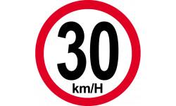30Km/H bord rouge