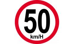 50Km/H bord rouge
