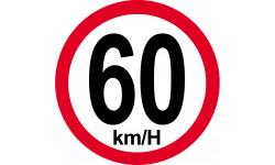 60Km/H bord rouge