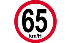 65Km/H bord rouge