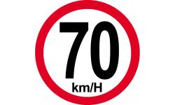 70Km/H bord rouge