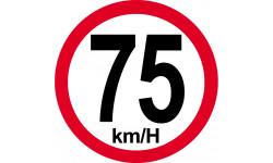 75Km/H bord rouge