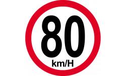 80Km/H bord rouge