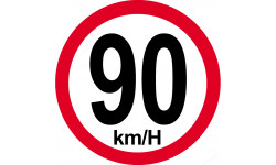 90Km/H bord rouge