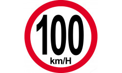100Km/H bord rouge