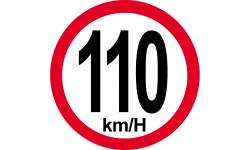 110Km/H bord rouge