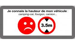 hauteur de passage de véhicule 3.5m non