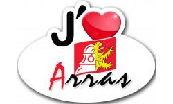 Sticker / autocollant : j'aime Arras