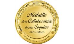 Stickers / autocollant Médaille collaboratrice coquine