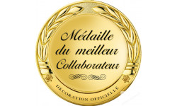 Stickers / autocollant Médaille du meilleur collaborateur