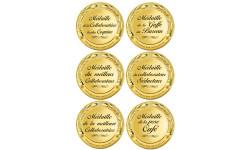 Stickers / autocollant Médaille de la pose café