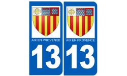 immatriculation blason 13 Aix en Provence