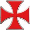 Sticker / autocollant : Croix des templiers - 1 autocollant de 21x21cm