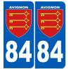Sticker / autocollant : numéro immatriculation 84 Avignon