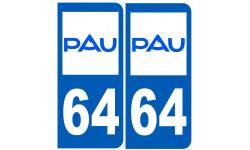 immatriculation 64 Pau