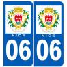 Sticker / autocollant : numéro immatriculation 06 Nice