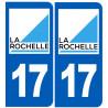 Sticker / autocollant : numéro immatriculation La Rochelle