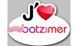 Sticker / autocollant : j'aime Batz-sur-Mer