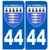 Sticker / autocollant : numéro immatriculation 44 La Turballe