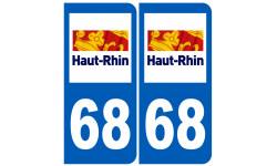 Sticker / autocollant : A 68 Le Haut-Rhin - 15cm