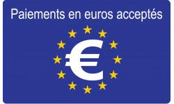 Paiements en euros acceptés