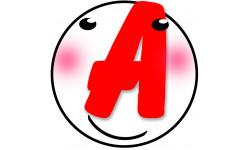 Sticker / autocollant : A t5 - 15cm
