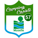 Sticker / autocollant : Camping car Moselle 57 - 20x15cm