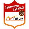 Sticker / autocollant : Camping car Nièvre 58 - 20x15cm