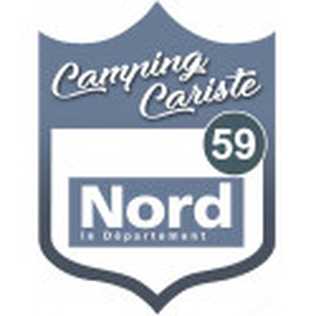 Sticker / autocollant : Camping car nord 59 - 20x15cm