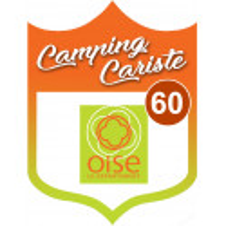 Sticker / autocollant : Camping car Oise 60 - 15x11.2cm