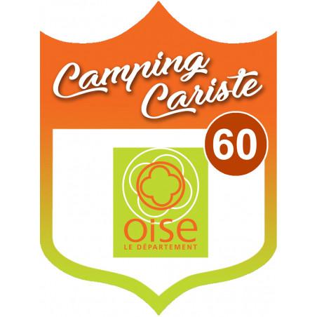 Sticker / autocollant : Camping car Oise 60 - 20x15cm