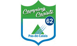 Sticker / autocollant : Camping car Pas de calais 62 - 10x7.5cm