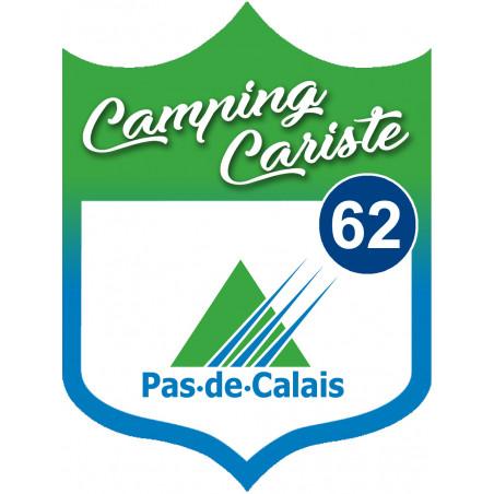 Sticker / autocollant : Camping car Pas de calais 62 - 15x11.2cm