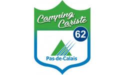 Sticker / autocollant : Camping car Pas de calais 62 - 20x15cm