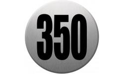 Sticker / autocollant : numéroderue350 - gris brossé