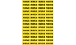 Sticker / autocollant : PRIORITAIRE