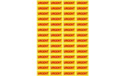 Sticker / autocollant : URGENT