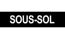 Sticker / autocollant : SOUS-SOL noir