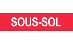Sticker / autocollant : SOUS-SOL rouge