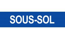 Sticker / autocollant : SOUS-SOL bleu