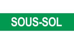 Sticker / autocollant : SOUS-SOL vert