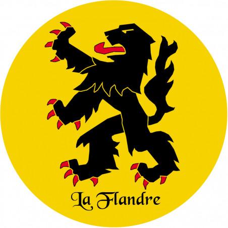 Sticker / autocollant : La Flandre du Nord - 15cm