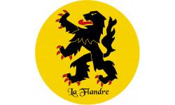 Sticker / autocollant : La Flandre du Nord - 5cm