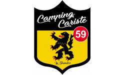Sticker / autocollant : Camping car Flandre 59 - 10x7.5cm