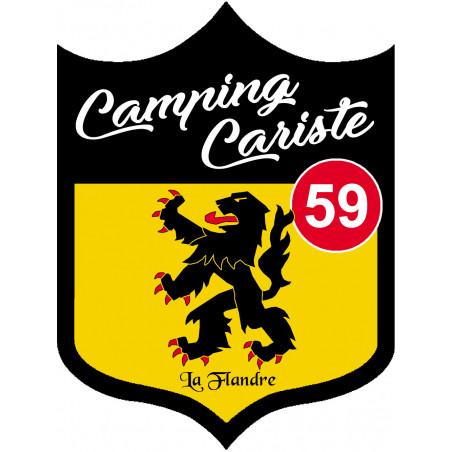 Sticker / autocollant : Camping car Flandre 59 - 15x11.2cm