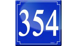 Sticker / autocollant : numéroderue354 classique - 10cm
