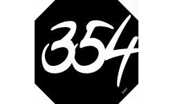 Sticker / autocollant : numéroderue354 architecte - 10cm